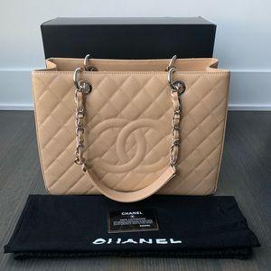 Chanel Beige Clair GST Silver Hardware